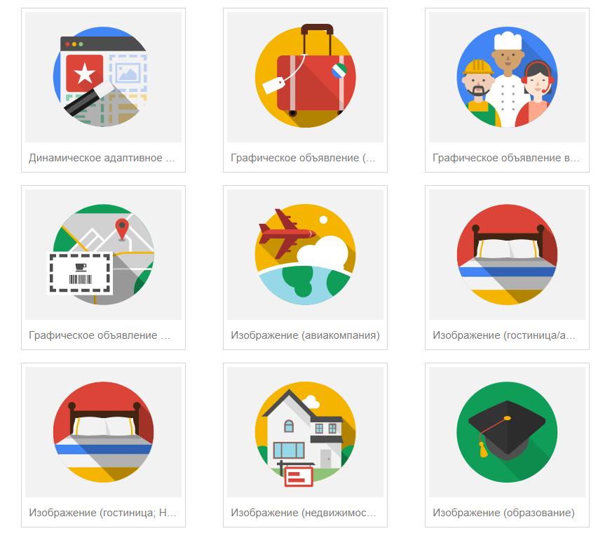 Виды Динамических объявлений в Google AdWords