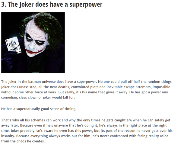 Joker Superpower