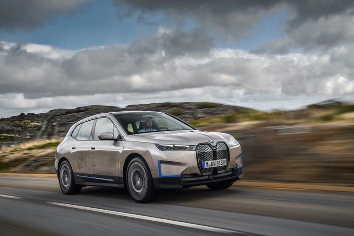 BMW iX electric cars