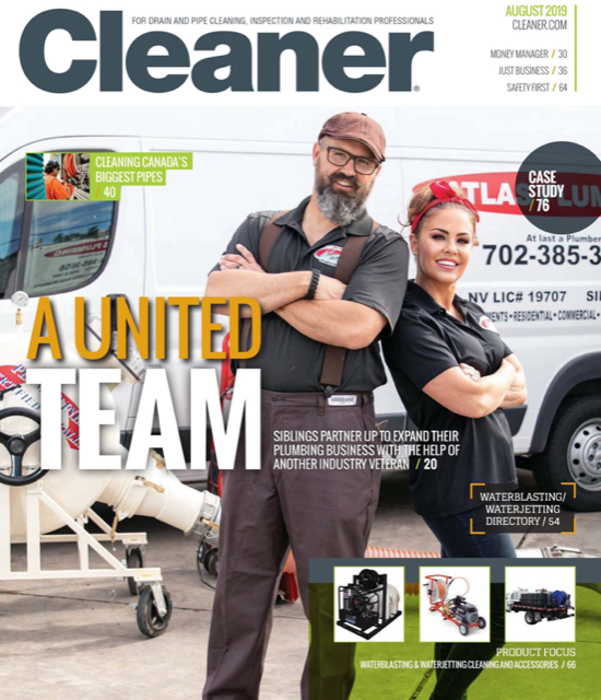 Rod and Sunshine on the cover of Cleaner Magazine.