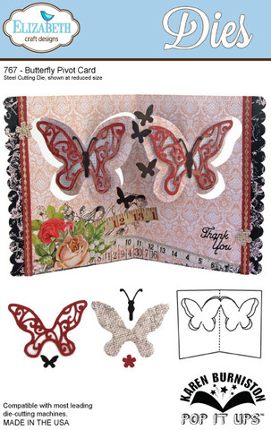 Butterfly Pivot Card (767)