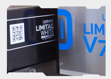 Limitronic V7 White - Marking and Coding on Dark Packaging