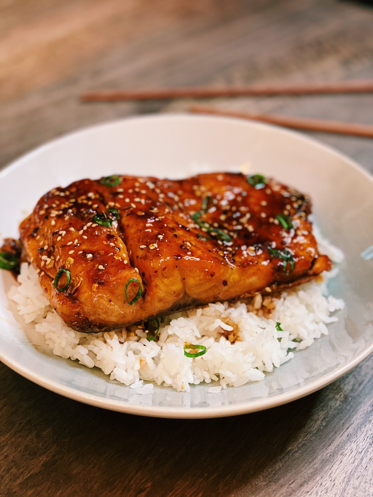 Spicy Honey Glazed Salmon