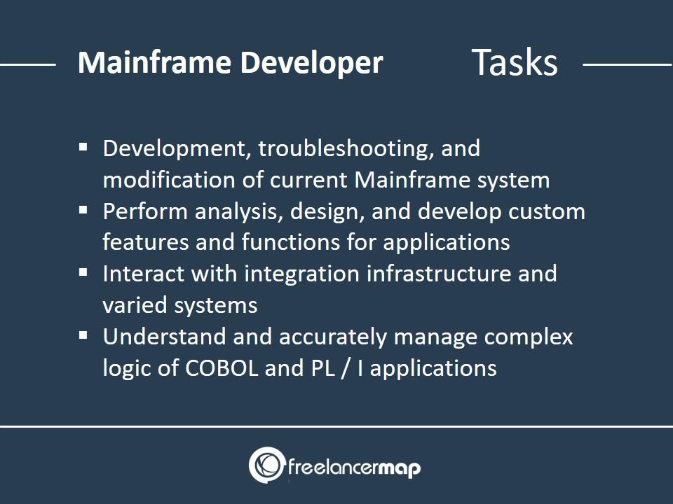 Mainframe Developer - Responsibilities