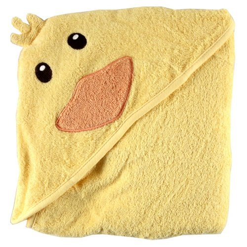 Luvable Friends Animal Face Hooded Baby Bath Towel