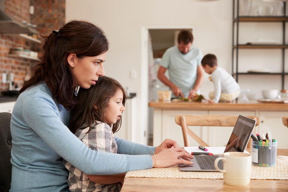 Parents struggle to balance working from home and at-home learning