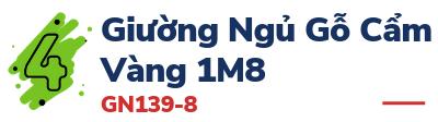 Giường Ngủ Gỗ Cẩm Vàng 1M8 - GN139-8