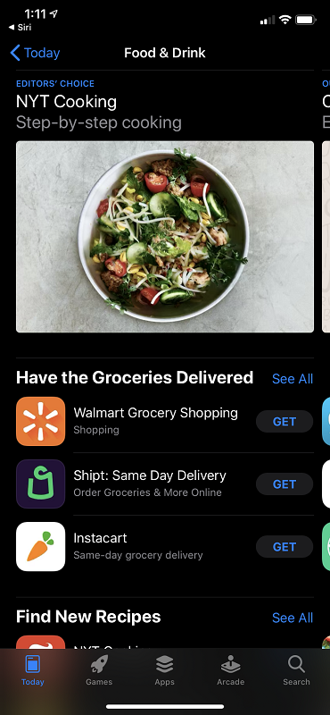 Cooking Apps in the App Store
