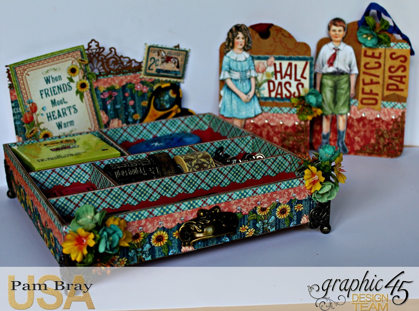 2017 G45 Brand Ambassadors- 2017 Pam Bray  - June 2017 - Penny's Paper Dolls Desk Organizer  with Tutorial Photo 2_7262.jpg