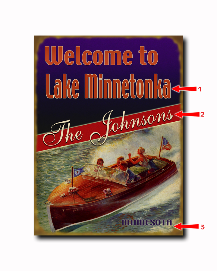 personalized vintage lake signs, signs for the lake house, lake house signs