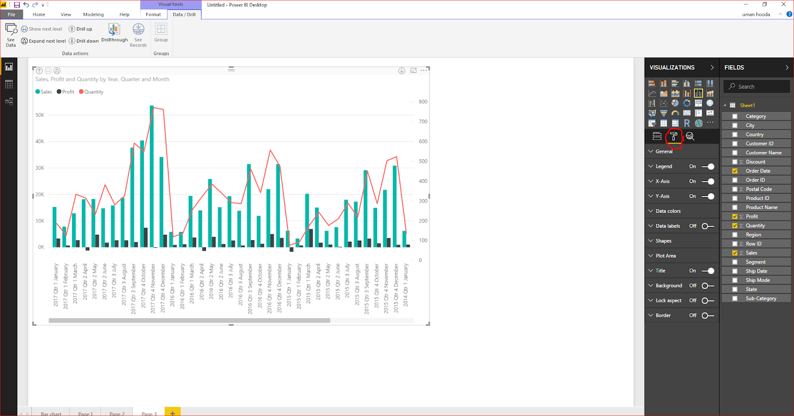 Dual Axis Chart in Microsoft Power BI - Step By Step 42