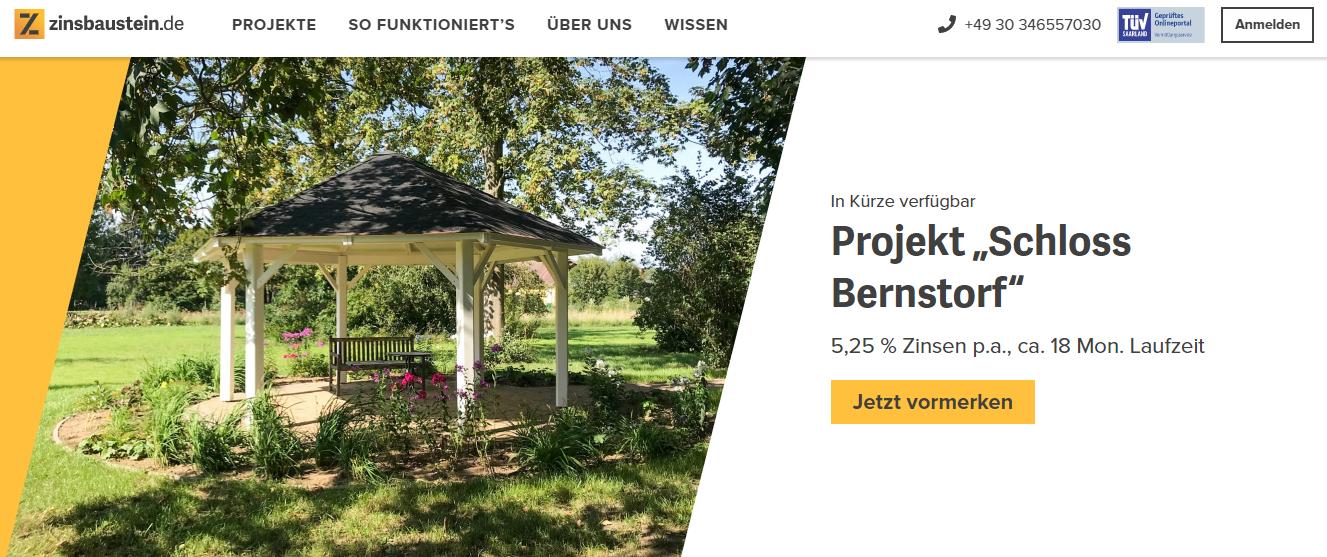 Real Estate Investing Website - Zinsbaustein