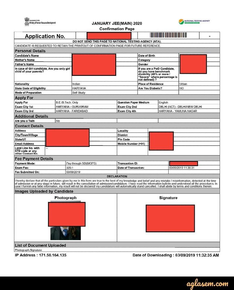 JEE Main Registration 2021