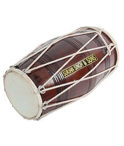 Best Dholaks In India (Surjan Singh & Sons Brown Musical Dholak)
