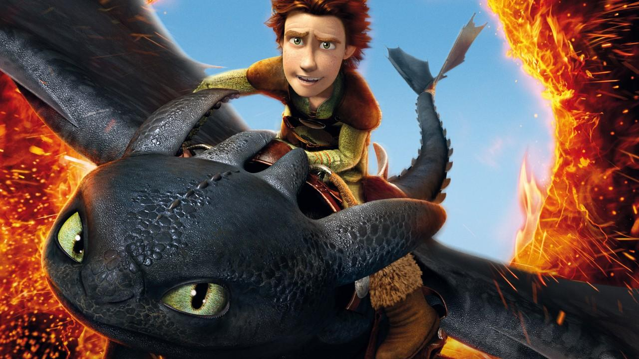Hiccup and his best friend - Toothless