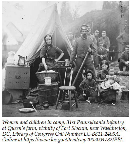Women and children in camp