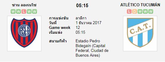 วิเคราะห์บอล ซาน ลอเรนโซ่ VS แอดเลติโก ทูคูแมน [อาร์เจนติน่า พรีเมียร์ดิวิชั่น] 7M