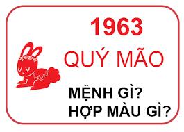 Sinh năm 1963 mệnh gì?
