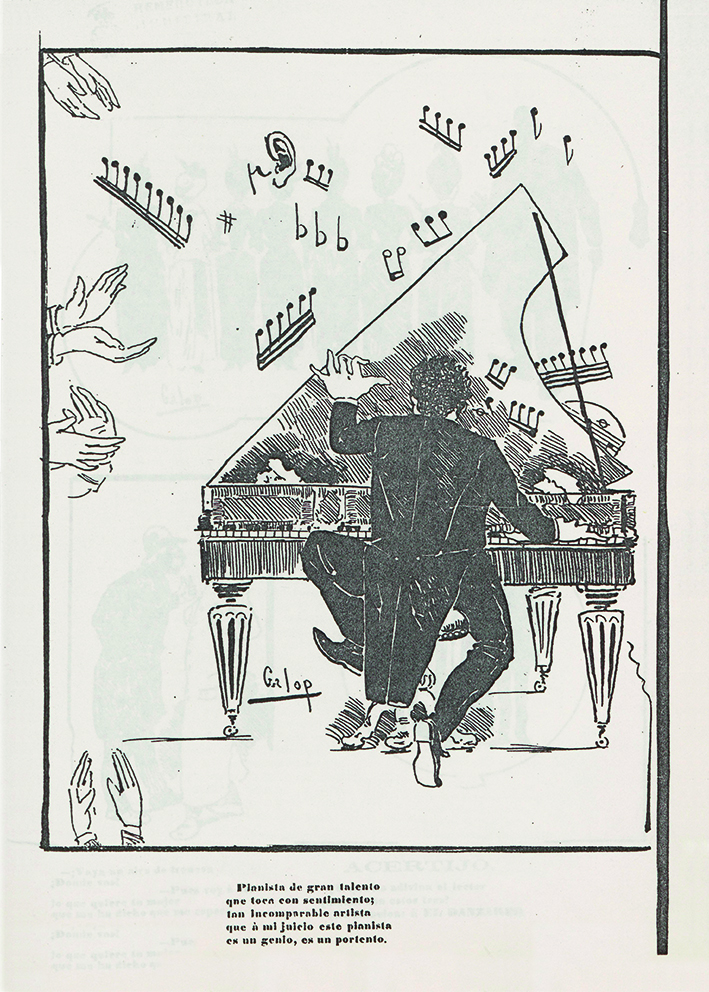 Pianista de gran talento que toca con sentimiento; tan incomparable artista que à mi juicio este pianista es un genio, es un portento.