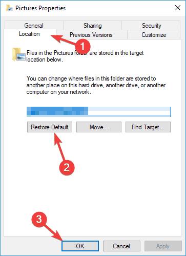 Окно расположения файла