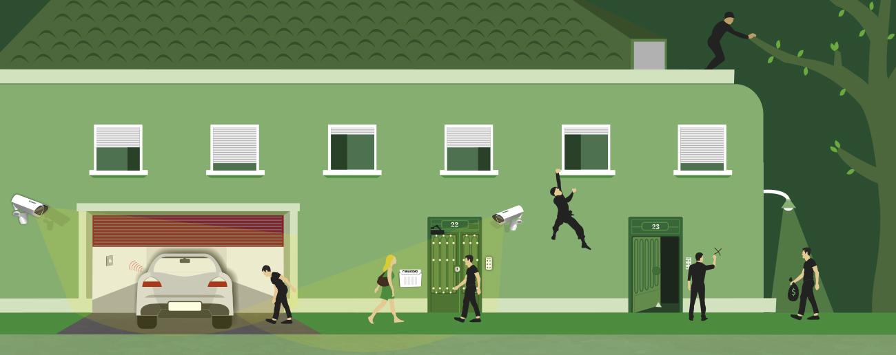 seguridad en una comunidad de vecinos