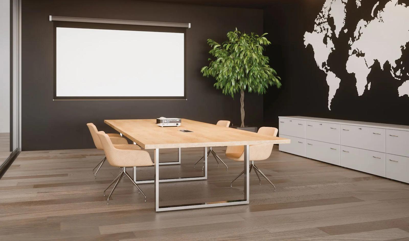 Exemple de salle de réunion au mobilier élégant et confortable