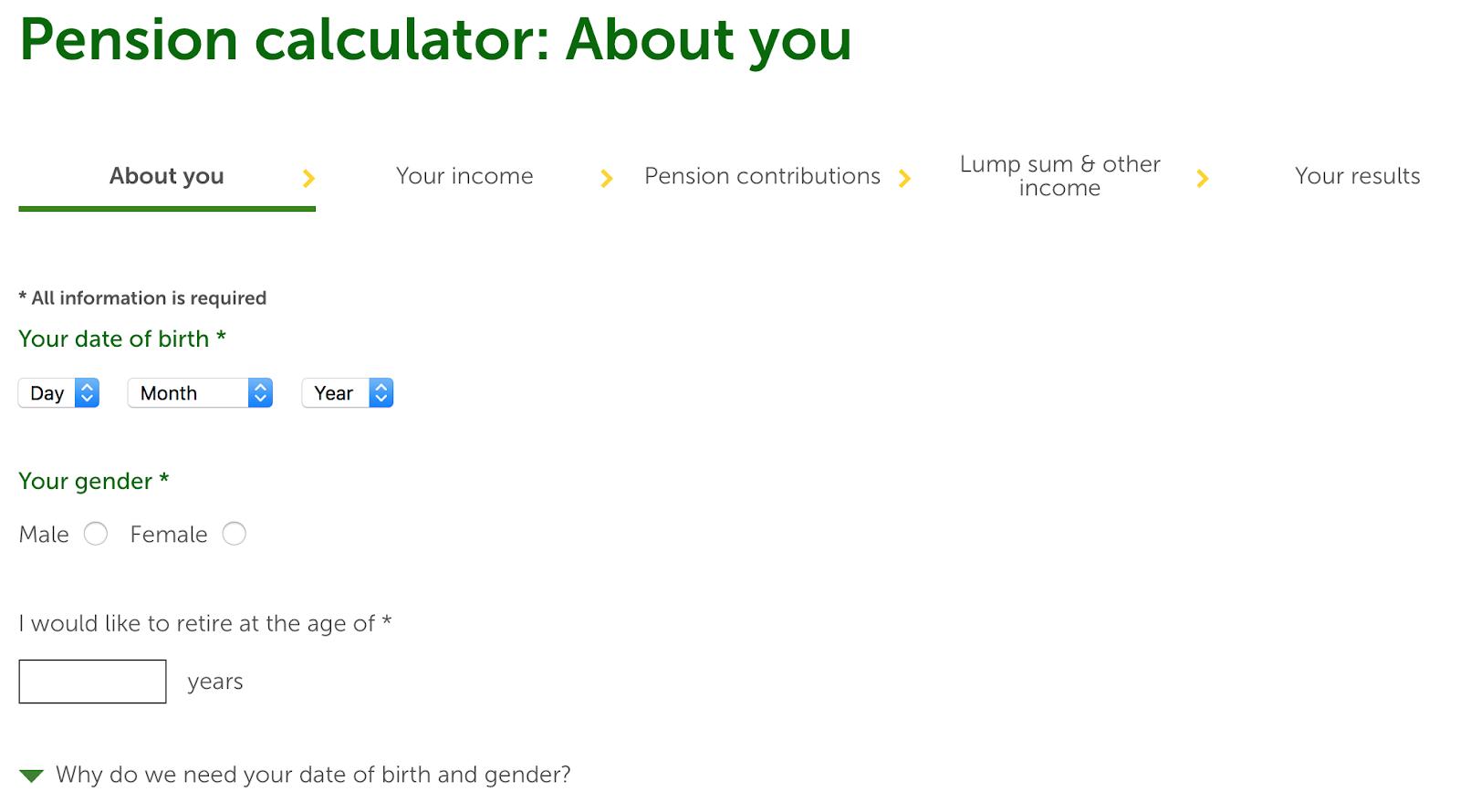 Source: Money Advice Service Pension Calculator