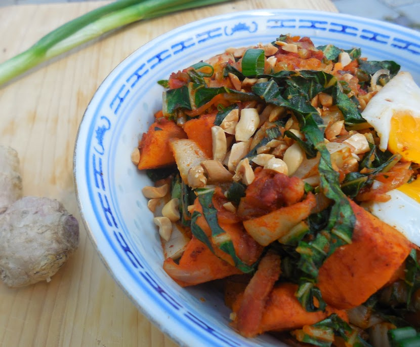 Easy, healthy recipes: kale and sweet potato hash by Welcome to Mommyhood