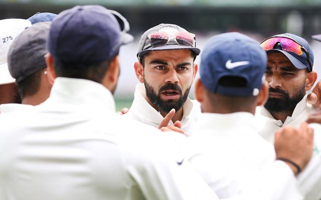 Image result for virat speaking huddle