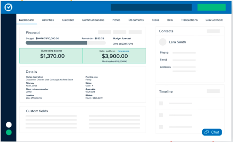 Clio Case Management Screenshot
