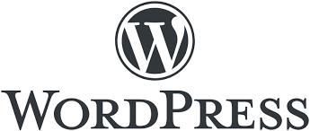 Емблемата на WordPress в черно и бяло