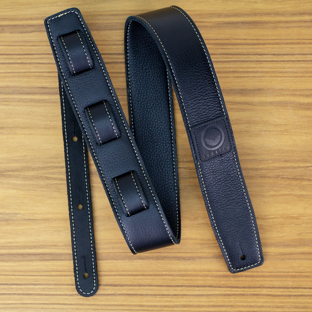 The Best Straps And Strap Locks For Guitars Blog Rock Stock pedals Premium Leather Strap from Squatch Design Co