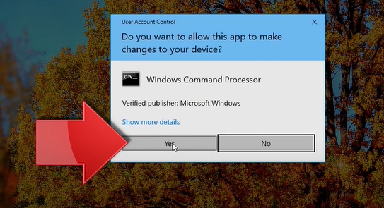 allow command prompt to make changes