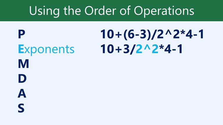 E exponents: 10+3/2^2*4-1