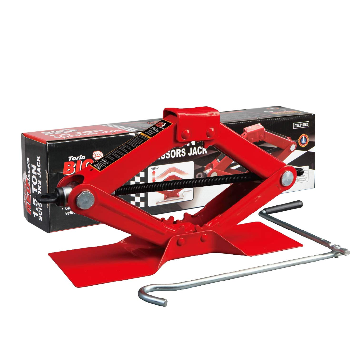 BIG RED Torin Steel Scissor Car Jack (11000 INR Approx)