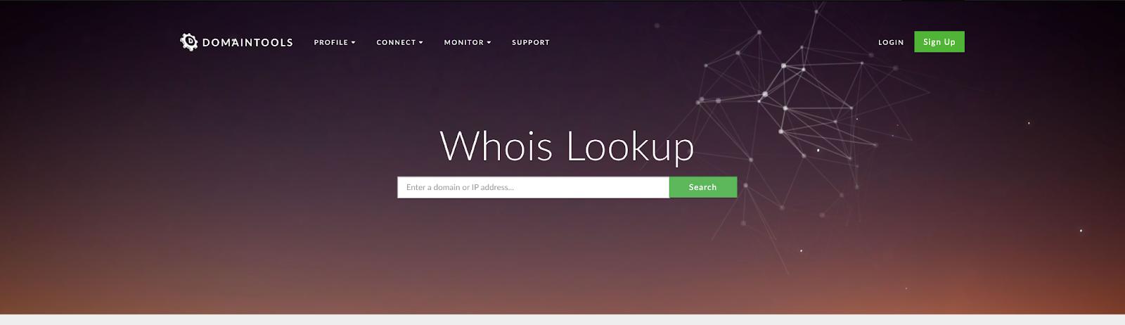 domain tools website