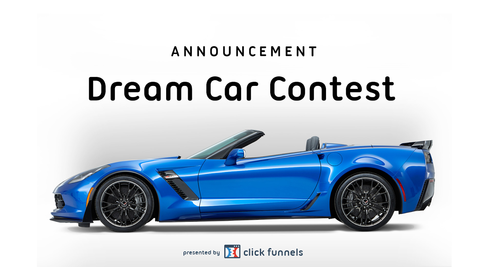 The cover image of Clickfunnels dream car contest