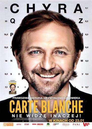Przód ulotki filmu 'Carte Blanche'