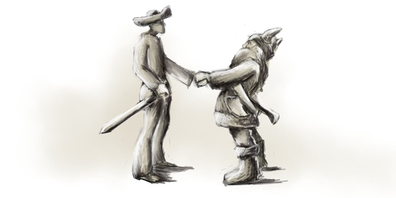 Hrdina stretáva nového priateľa v neznámom kraji.