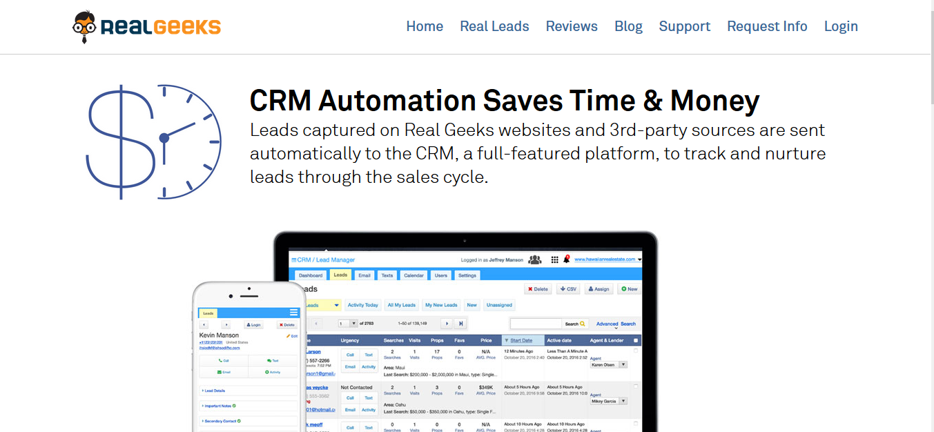 Real Geeks CRM for real estate