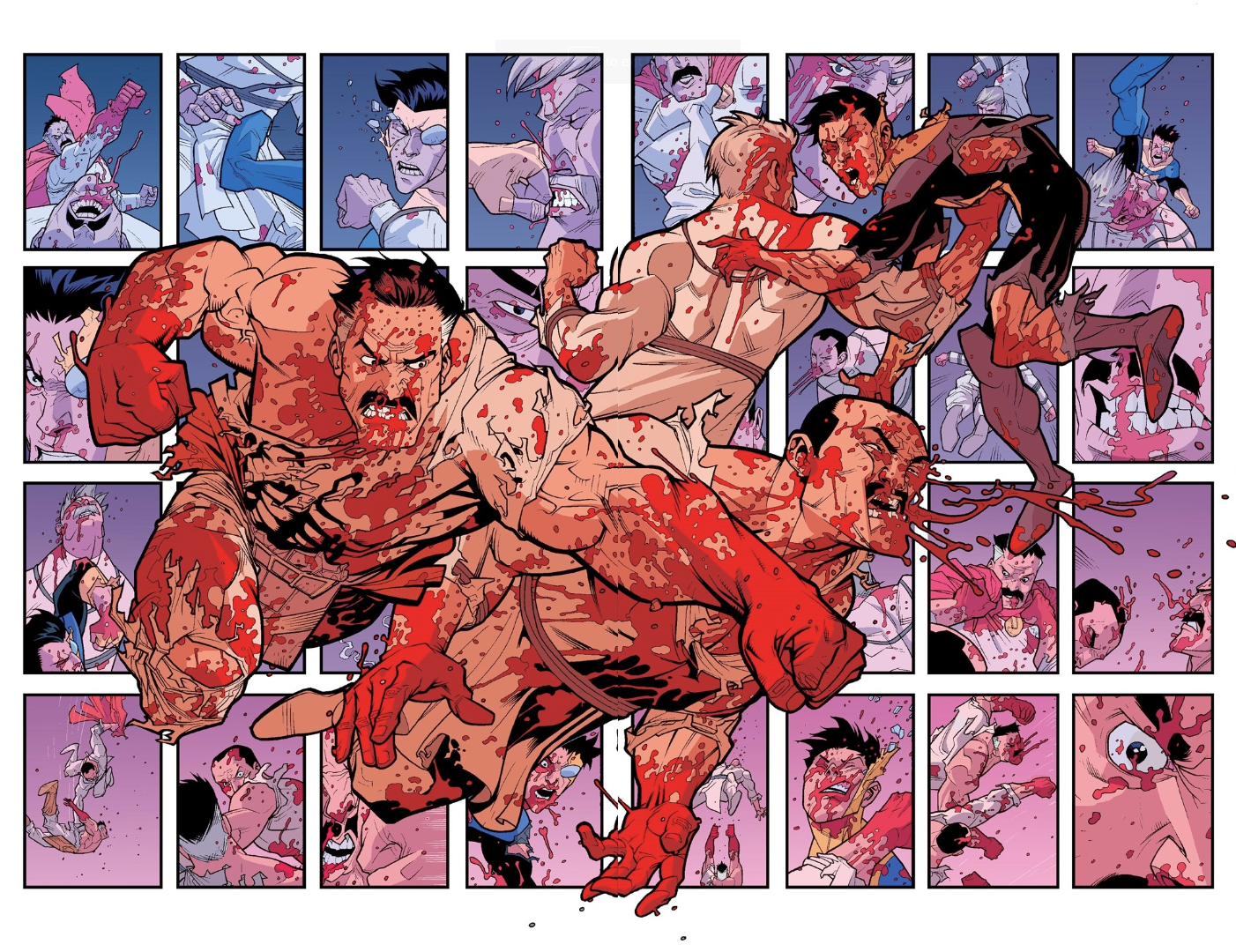 Excerpt] Ryan Ottley, Cliff Rathburn, and Bill Crabtree deliver a hell of a  brutal fight scene (Invincible #29) : comicbooks