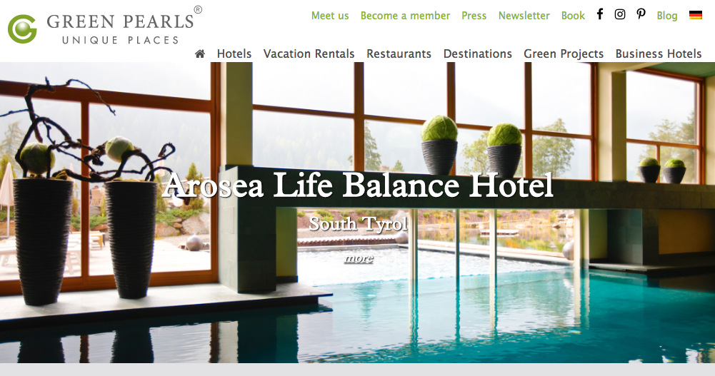 eco friendly hotels accommodation sites