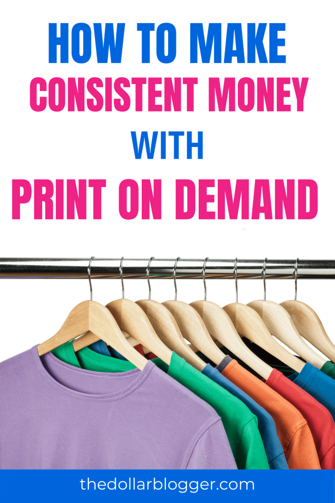 Learn to make more money online with print on demand. In this post, you'll learn how to make extra money working from home with print on demand. POD creates passive income that can pay thousands a month!