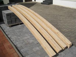 Brückenträger aus Lärchenholz