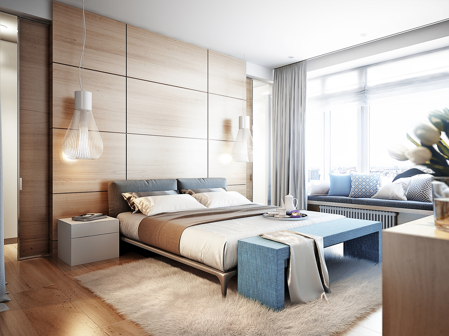 Make A Cozy and Warm Modern Bedroom