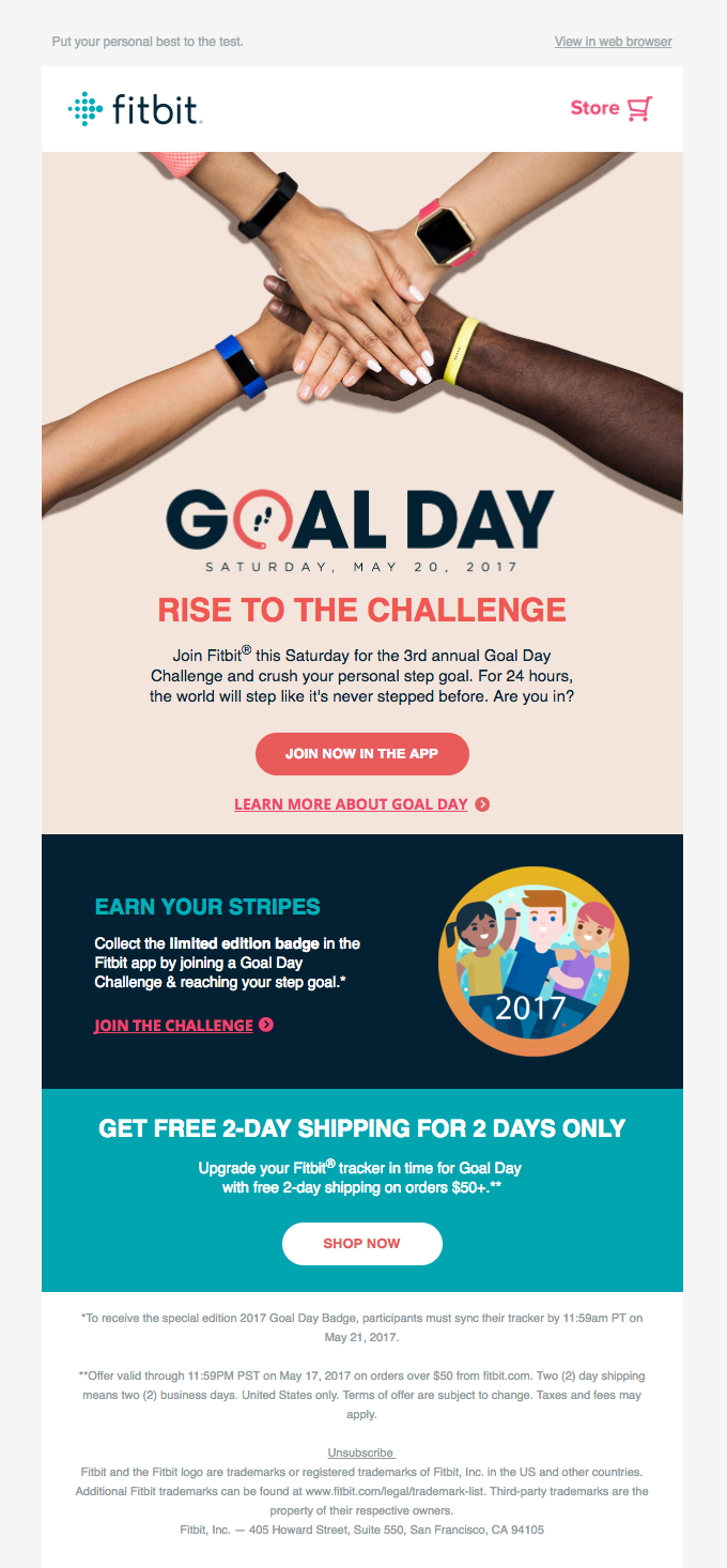 fitbit email example