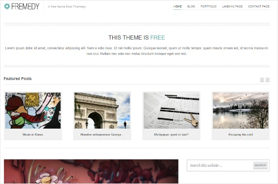 Fremedy Free WordPress Theme