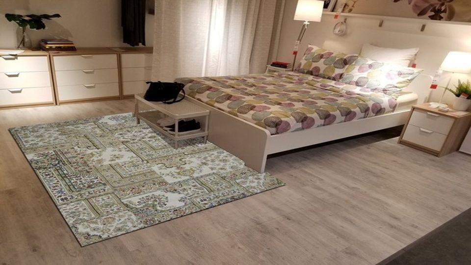 Trang trí phòng ngủ bằng thảm trải sàn
