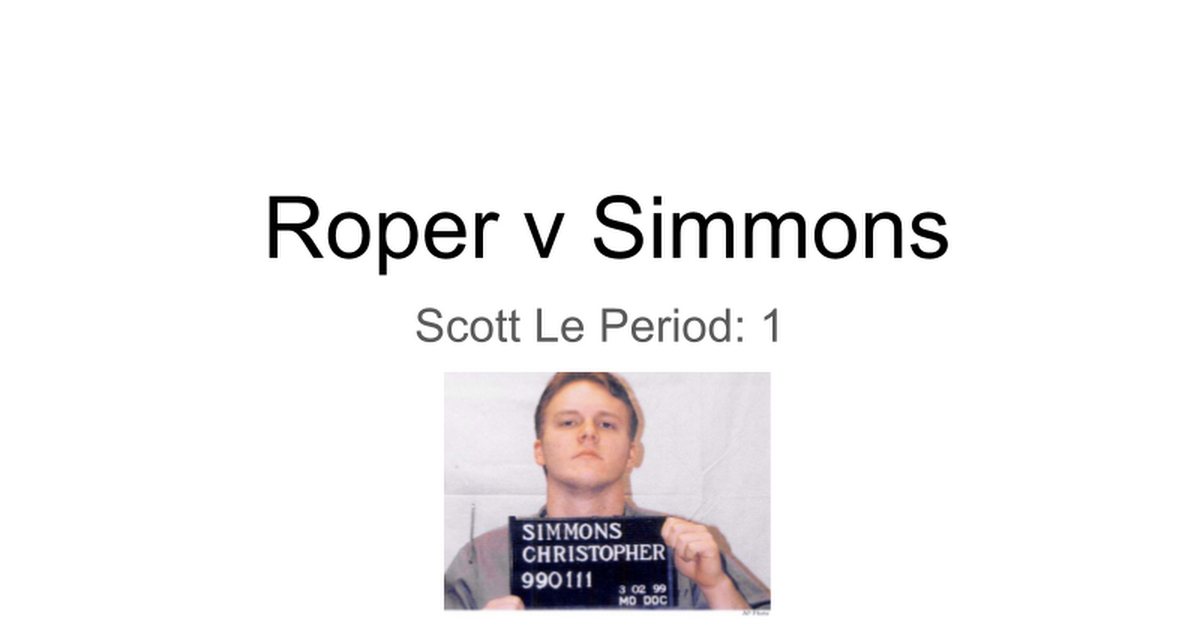 roper v simmons dissenting opinion
