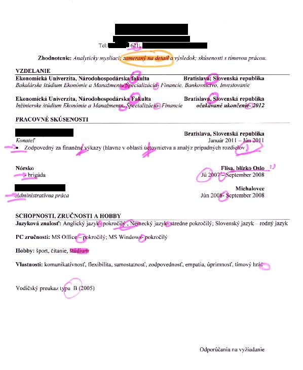 Ako sa nepredať, alebo prečo rozmýšľať pri písaní CV